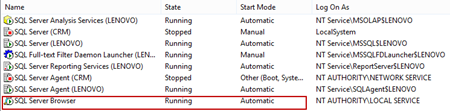 Make sure that the SQL Server Browser is set to Automatic and Running using SQL Server Configuration Manager