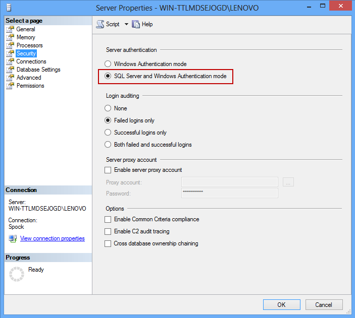 How to configure remote access and connect to a remote SQL
