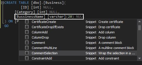 SQL snippets