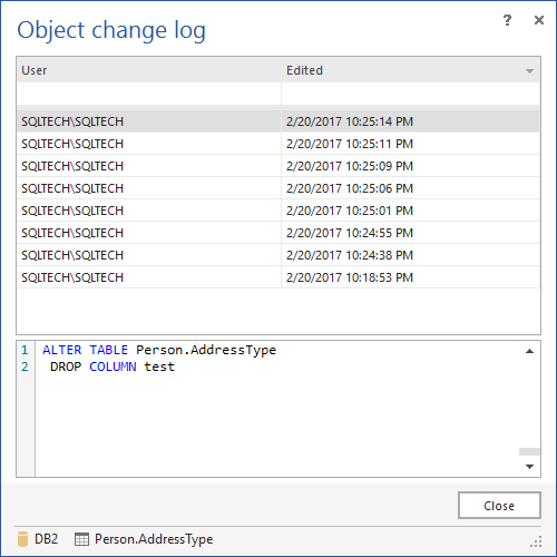 Change log FAQs