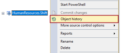 Object history