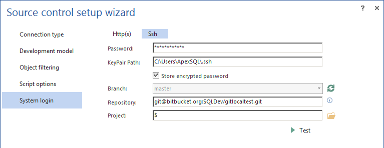 How to link a SQL Server database to a Git repository