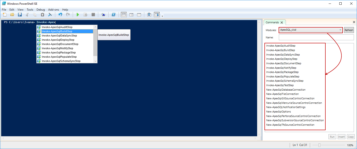 How to configure the ApexSQL DevOps toolkit PowerShell