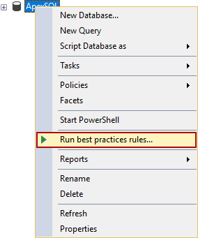 How to enforce best practices rules against your database