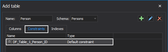 Default constraint in ApexSQL Model