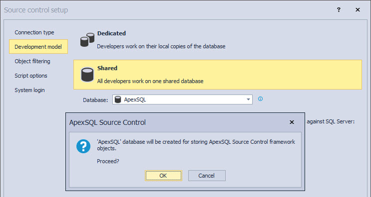 Choosing a separate database