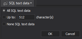 Custom SQL text data collection.
