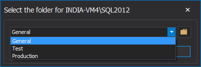 Select the folder to assign to SQL Server