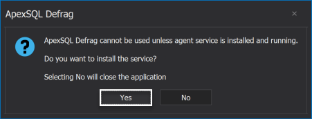 ApexSQL Manage Agent is not installed
