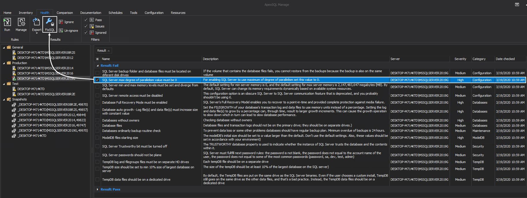 Running FixSQL script