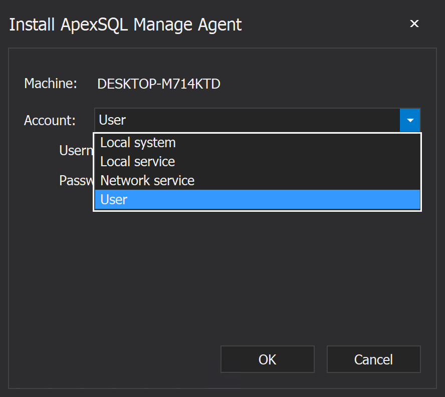 ApexSQL Manage Agent installation window