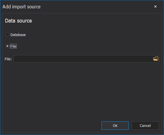 ApexSQL Pump import source types