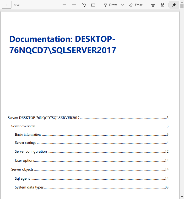 PDF documentation in the ApexSQL Manage