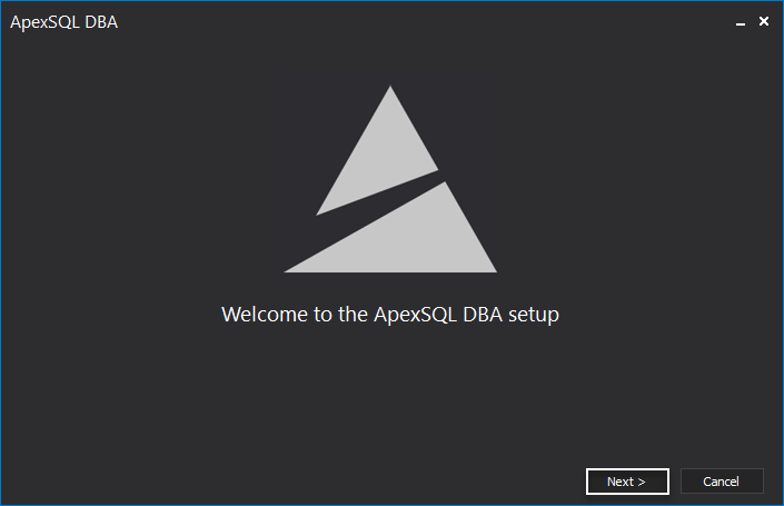 Welcome to the ApexSQL DBA setup