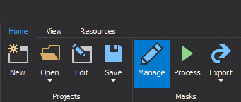 The Manage button, by clicking on that button will be started mask SQL server data