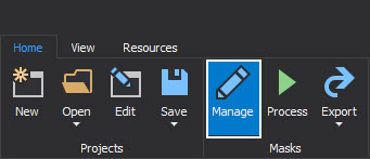 The Manage button which used for starting process of creating new mask that will be later used for mask SQL Server data