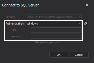 Connecting to a SQL instance